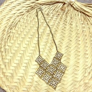 Accessories - Fabulous Women's Necklace,gold color with pink